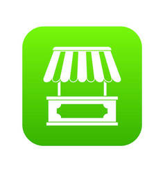 street kiosk icon digital green vector image