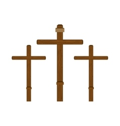 three cross wooden vector image