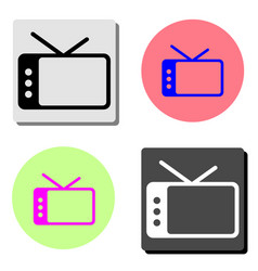 tv flat icon vector image