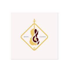Violin cello logo design inspiration classic vector