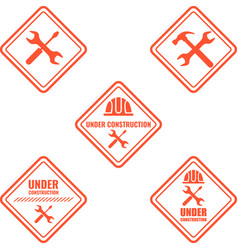 warning sign under construction logo vector image