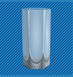 water glass concept background realistic style vector image