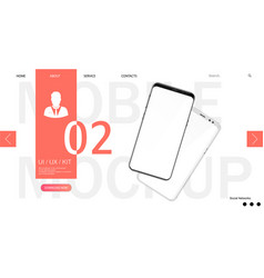 webpage smartphone mockup template vector image