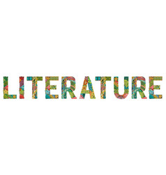 Word literature entangle object vector