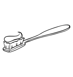 A toothbrush vector image vector image