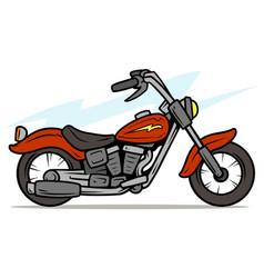 cartoon retro red motorbike vector image