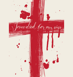 christ died for our sins vector image vector image