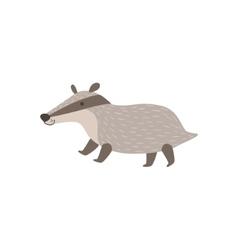 Grey Badger Walking vector image vector image