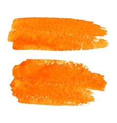 Set of Orange Watercolor Brush Strokes vector image vector image