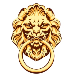 The head of a lion - door handle vector image vector image