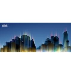 City Skylines Blue night background Panorama vector image