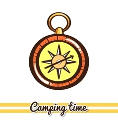 Compass camping equipment vector