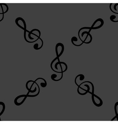 Music elements notes web icon flat design Seamless vector image vector image