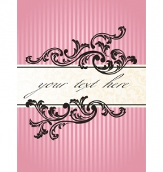 romantic French banner vector image