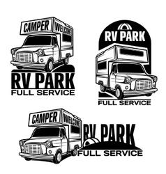 Rv cars Recreational Vehicles Camper Vans Caravans vector image