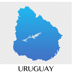 uruguay map in south america continent design vector image