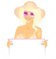 women presentation in hat vector image vector image