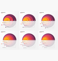 circle chart infographic template for vector image vector image