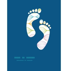 colorful horizontal ogee footprints vector image