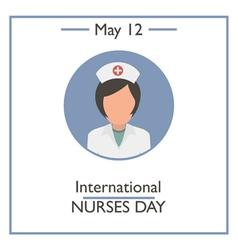 International Nurses Day vector image vector image