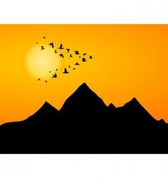 jamb of cranes vector image vector image