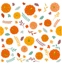 thanksgiving autumn seamless background vector image vector image