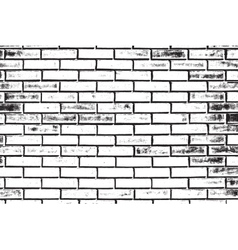 Decorative Brickwall Silhouette vector image vector image