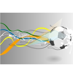 Football backgroud with abstract line vector