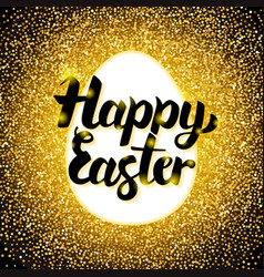 happy easter gold greeting vector image vector image