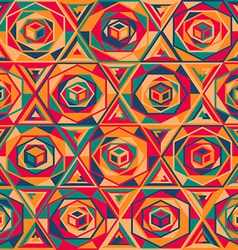 multicolor mosaic seamless pattern vector image