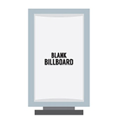 Single Blank Advertising Billboard Isolated On vector image vector image