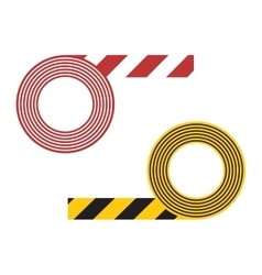 Striped tape vector image vector image