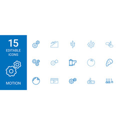 15 motion icons vector