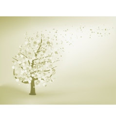Abstract elegant tree EPS 8 vector image