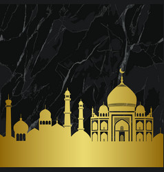 abstract gold and marble arab city seamless vector image