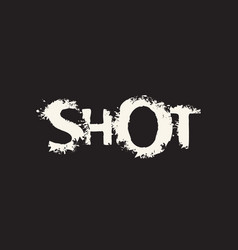abstract lettering shot on black background vector image