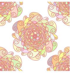 abstract pattern made of colorful mandalas vector image