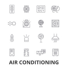 Air conditioning hvac coolling heating vector