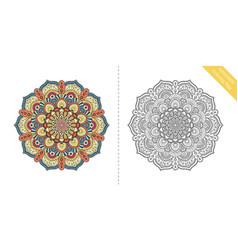 antistress coloring page mandala forth vector image