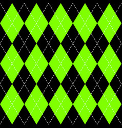 Argyle plaid in ufo green colors vector