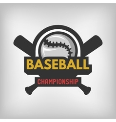 Baseball sports logo vector image