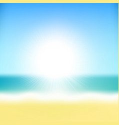 beach tropical sea with sun vector image