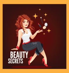 Beauty Secrets vector image
