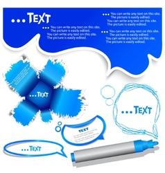 blue bubble for speech vector image vector image