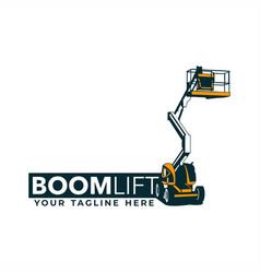 boom lift logo vector image