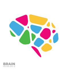 brain logo silhouette design template vector image