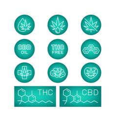 Cbd oil benefits medical uses for oil vector