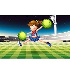 cheerleader on field vector image
