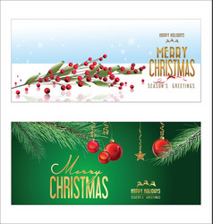 Christmas background red balls with decorations 2 vector