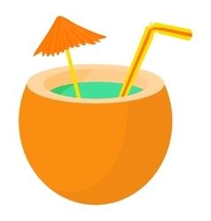 Cocktail icon cartoon style vector
